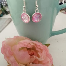 Load image into Gallery viewer, Romantic Rose Pendant and  dangle earring set