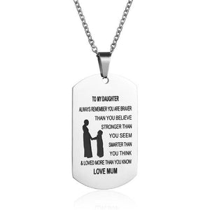 Personalized Necklaces, Oče za Sina / Očeta hčerki / Mati do sina In Več