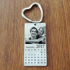 Personalized Photo Calendar Keychain Best Valentine darilo za par, ga / ji