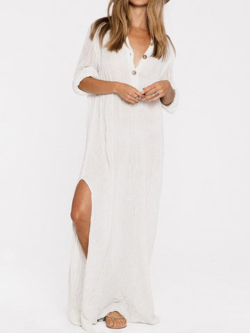 National Bohemia Long Sleeves Maxi Dress