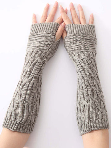 Lace Leg Warmers Jacquard Weave Over Knee-high Stocking