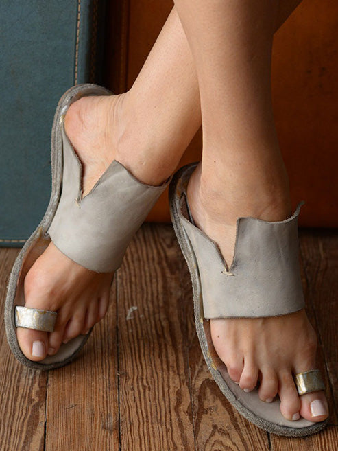 Women Shoes Rome Open-toe Beach Flat Sandals