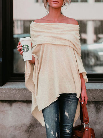Fashion Solid Color Knit Sweater Cardigans Tops