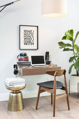 Hideaway Wall Shelf and Desk | Walnut | Expandable | Ideal for Small Spaces