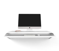 Minimal Wall Desk | White | Large | Pull-out Shelf | Ideal for Home-Office