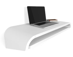 Minimal Wall Desk | White | Small | Pull-out Shelf | Ideal for Home-Office
