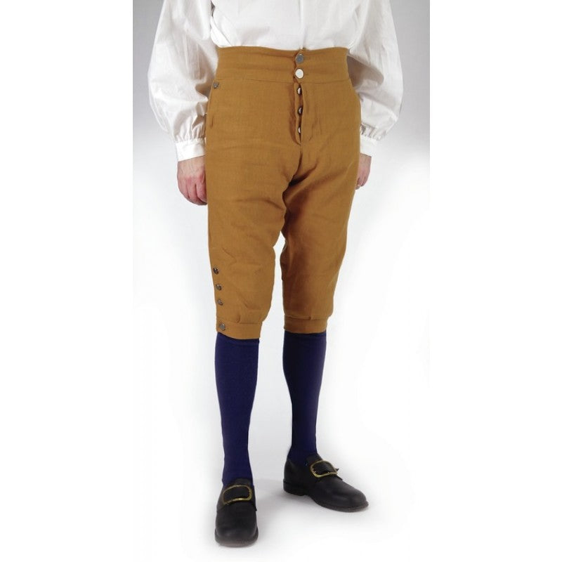 Fly Front Knee Breeches - Cotton Canvas   CP-129