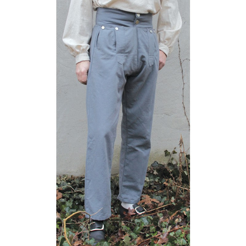 Fall Front Trousers in Cotton Canvas    PC-125