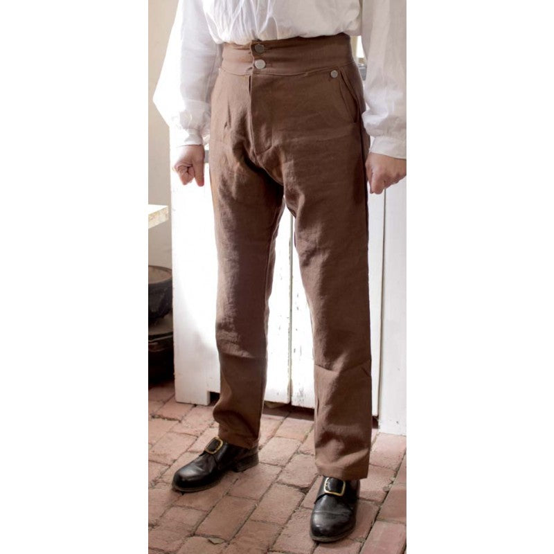 Fly Front Trousers Linen   PL-140
