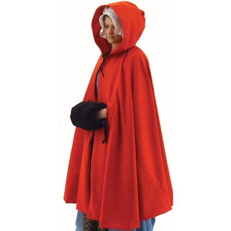 Ladies Red Wool Cloak   SH-146