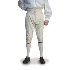 Fly Front Knee Breeches - Linen   LP-129