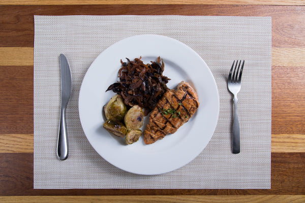Lemon Rosemary Chicken with Roasted Brussels