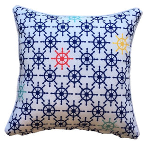 Ships Wheel Outdoor Cushion Cover 45 x 45cm