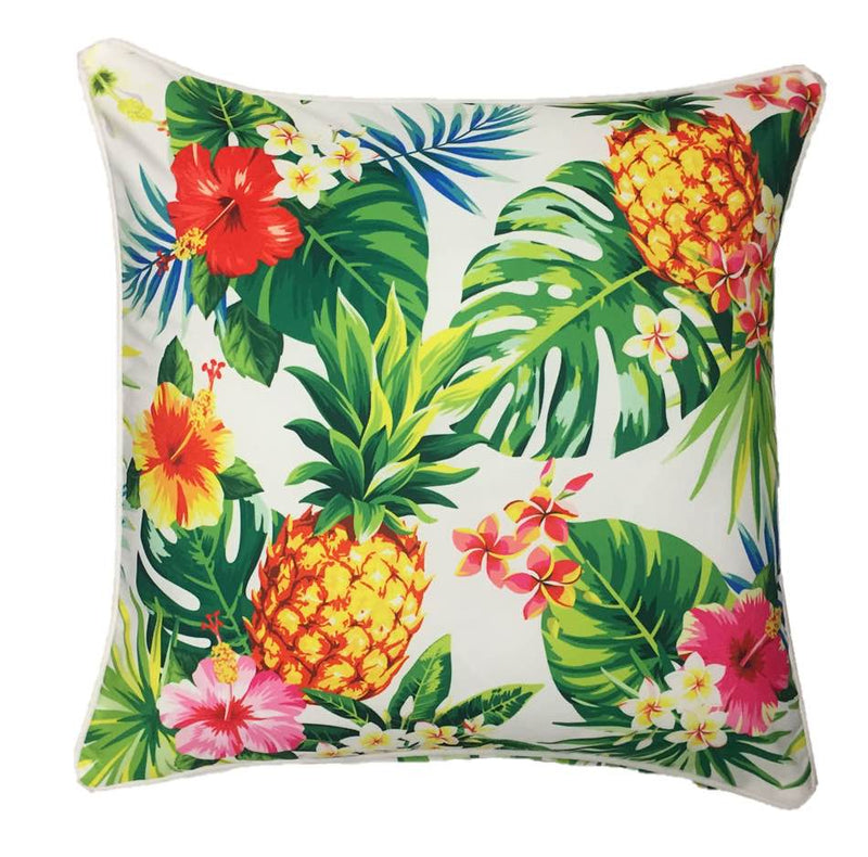 Tropicana White Outdoor Cushion Cover 45 x 45cm