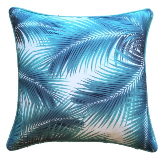 Turq Palm Leaves Outdoor Cushion Cover 45 x 45cm