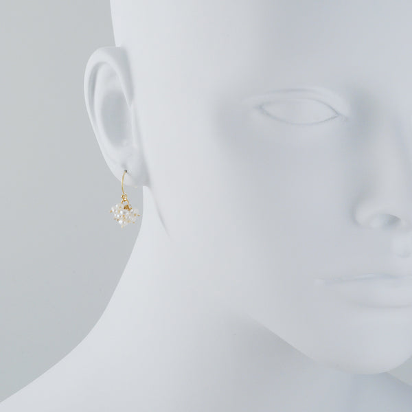 CHRISTINA STANKARD - Cluster of White Pearls Earrings