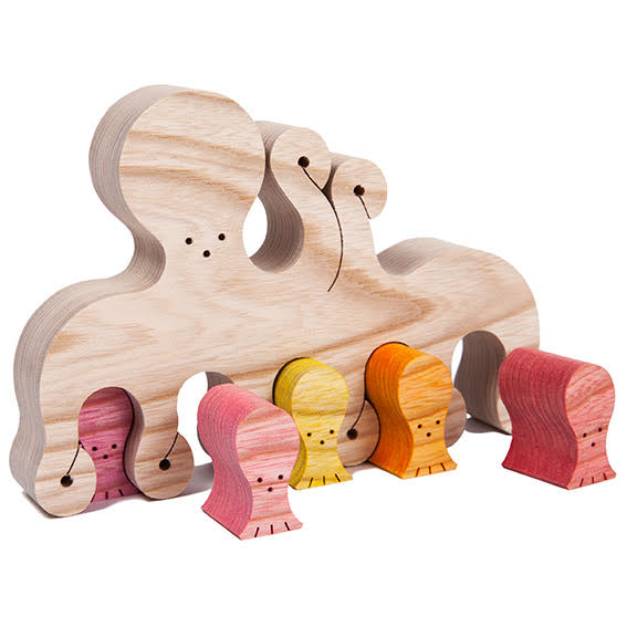 Wooden Octopus Puzzle