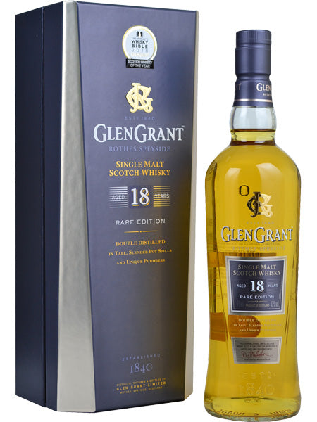 Glen Grant 18 Year Old Rare Edition Scotch Whisky