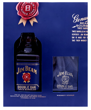 Jim Beam Double Oak Bourbon Whiskey W/WH Stone - CaskCartel.com