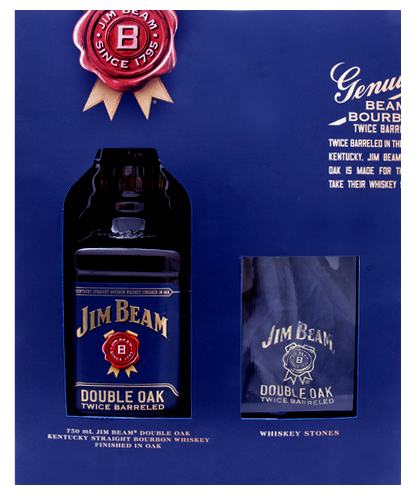 Jim Beam Double Oak Bourbon Whiskey W/WH Stone
