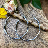"Twig Hoops Hand cast ""real"" twig branches"