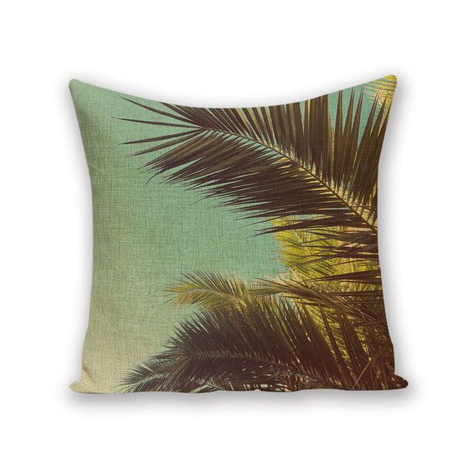 TROPICAL VIBE DECORATIVE PILLOW COVER C.17