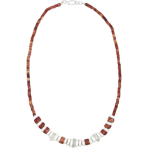 Down to Earth Necklace White