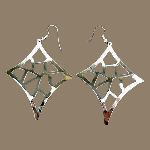 Large Silverplated Starlight Earrings