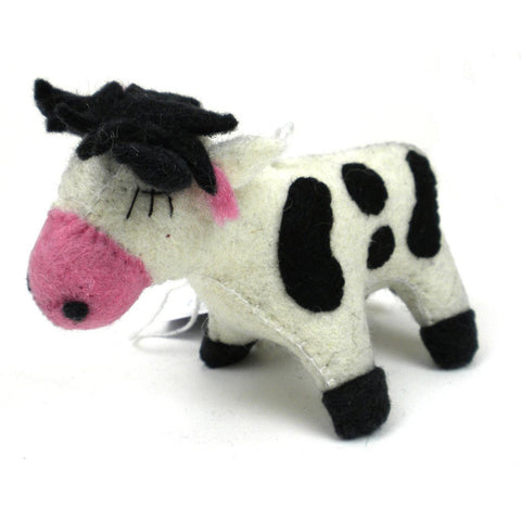 Felt Cow Ornament