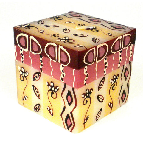 Hand Painted Candle - Cube - Halisi Design