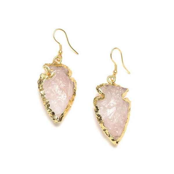 Abbakka Arrowhead Earrings - Rose