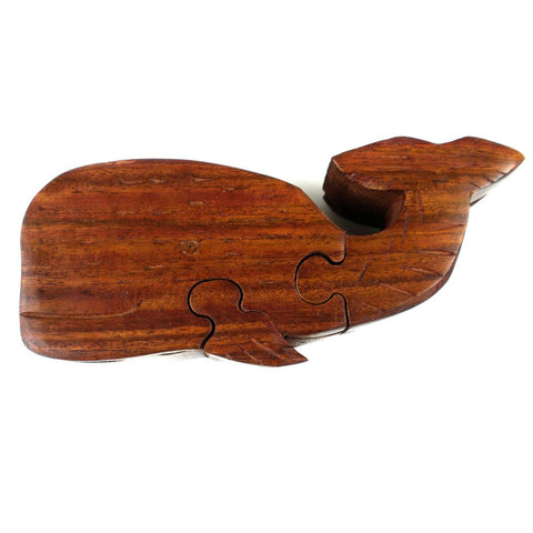 Wood Whale Puzzle Box