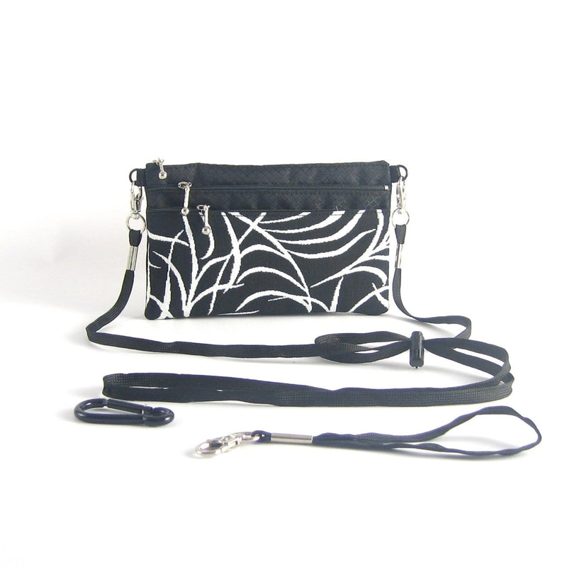 Three zipper Minibag with cordlock shoulder strap 49RS