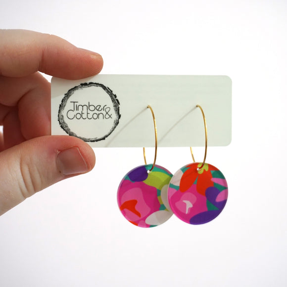 Summer Garden Circle Hoops- Timber & Cotton