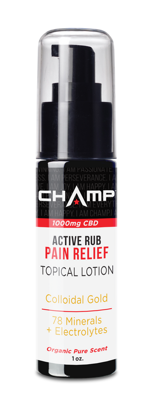 CHAMP ™ 1000mg CBD Pain Relief Active Rub