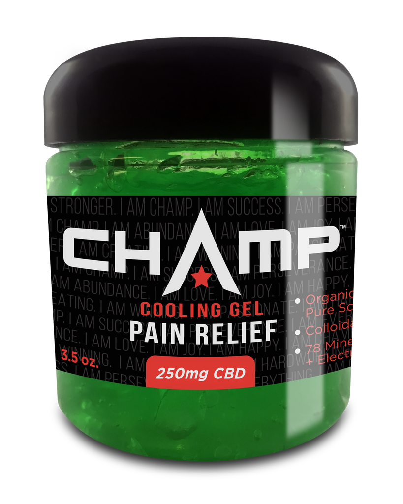 CHAMP ™ 250mg CBD Pain Relief Cooling Gel