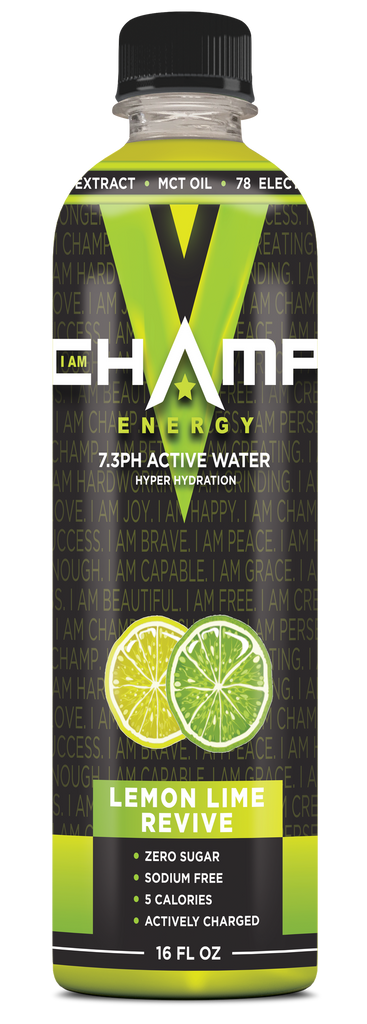 CHAMP ™ Lemon Lime Revive Actively Charged - 12 Pack