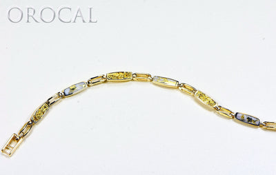 "Gold Quartz Bracelet ""Orocal"" BDLOV5MMNQC59  Genuine Hand Crafted Jewelry - 14K Gold Casting"