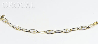 "Gold Quartz Bracelet ""Orocal"" BDLOV5LHQC89 Genuine Hand Crafted Jewelry - 14K Gold Casting"