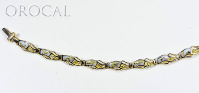 "Gold Quartz Bracelet ""Orocal"" BWB24OLQ Genuine Hand Crafted Jewelry - 14K Gold Casting"