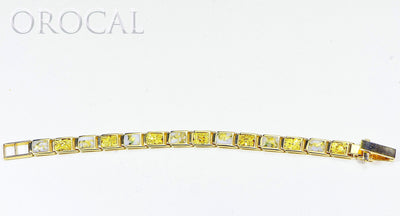 "Gold Quartz Bracelet ""Orocal"" B8MM7N7Q Genuine Hand Crafted Jewelry - 14K Gold Casting"