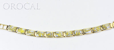 "Gold Quartz Bracelet ""Orocal"" B9.5MMH11LQ Genuine Hand Crafted Jewelry - 14K Gold Casting"