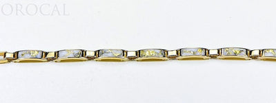 "Gold Quartz Bracelet ""Orocal"" B5.5MM7LQ Genuine Hand Crafted Jewelry - 14K Gold Casting"
