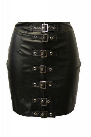 Mini skirt black leather imitation pvc Another Way of Life