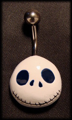 Barbell belly piercing jack skellington another way of life