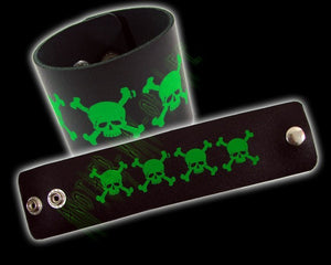 Bracelet with green skullsAnother Way of Life