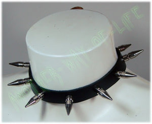 Punk leather collar with 9 spikes 2.05 cm longAnother Way of Life
