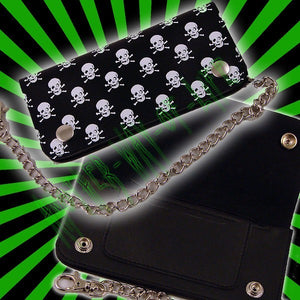 Biker Wallet with white skullsAnother Way of Life