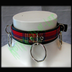 Choker tartan with 3 ringsAnother Way of Life