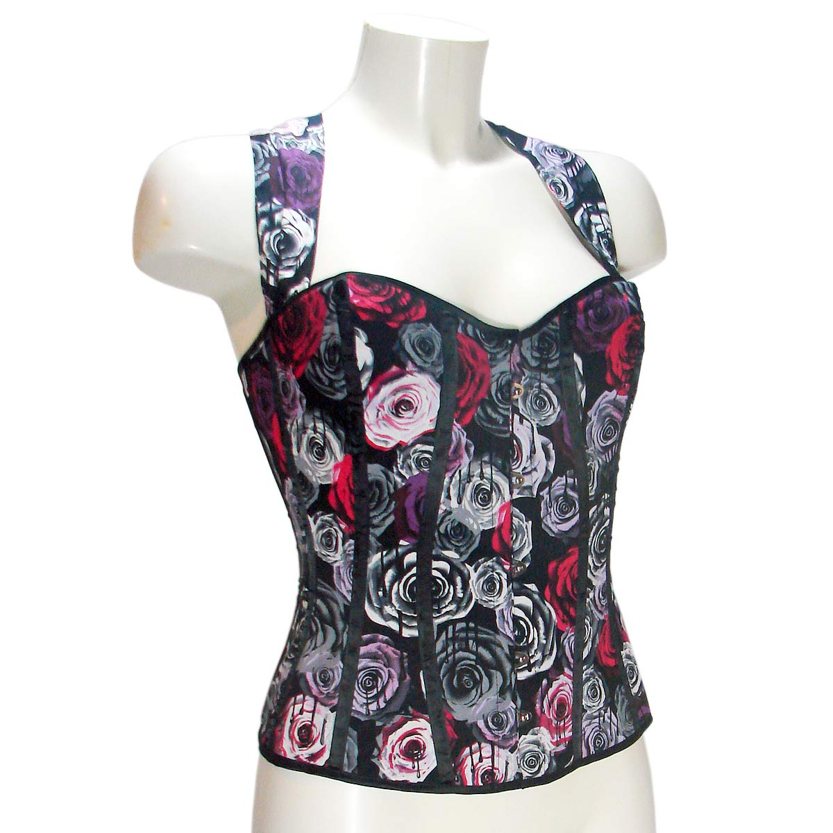 Corset Bodice Top Oi Oi Roses Print by Hell BunnyAnother Way of Life